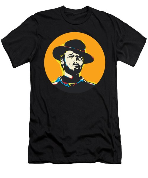 Clint Eastwood Pop Art Portrait Men's T-Shirt (Athletic Fit)