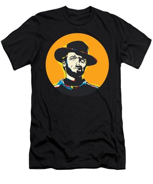 Clint Eastwood Pop Art Portrait Men's T-Shirt (Athletic Fit)
