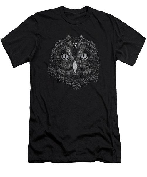 Shaman Spirit Owl Men's T-Shirt (Athletic Fit)