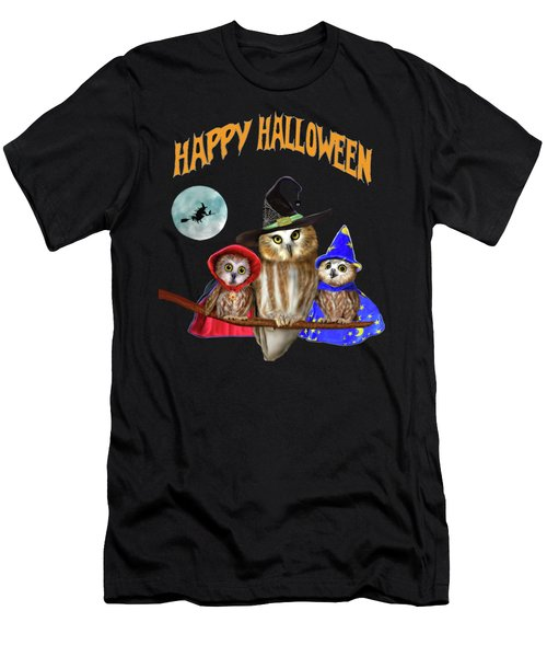 Happy Halloween From Owl Of Us Men's T-Shirt (Athletic Fit)