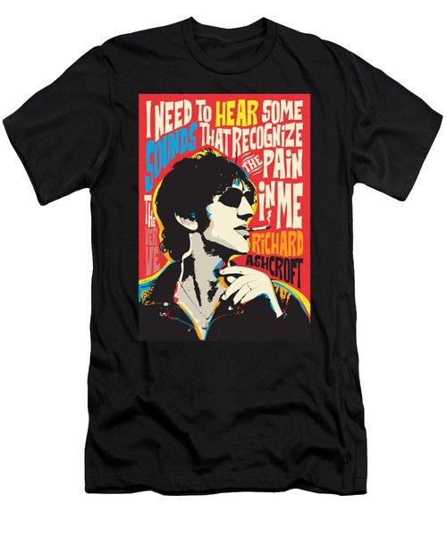 Richard Ashcroft Pop Art Quote Men's T-Shirt (Athletic Fit)