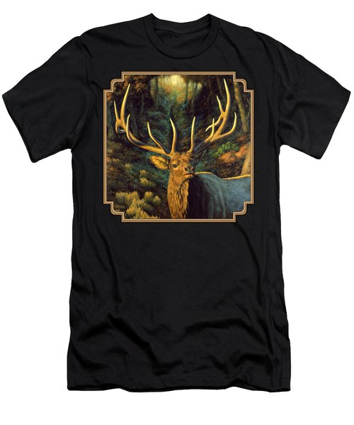 Elk Painting - Autumn Majesty Men's T-Shirt (Athletic Fit)