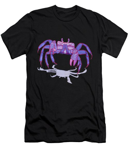 Purple Peacock Crab On The Run Men's T-Shirt (Athletic Fit)