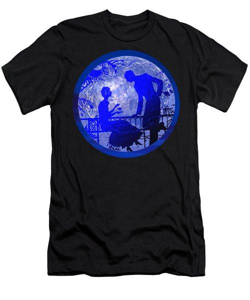 Blue Moonlight Lovers Men's T-Shirt (Athletic Fit)
