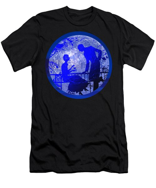 Blue Moonlight Lovers Men's T-Shirt (Athletic Fit)