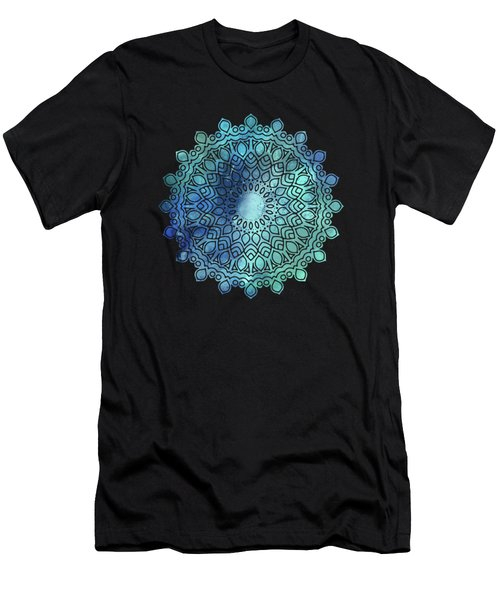 Watercolor Om Shaanti Yoga Opening Prayer Mandala Men's T-Shirt (Athletic Fit)