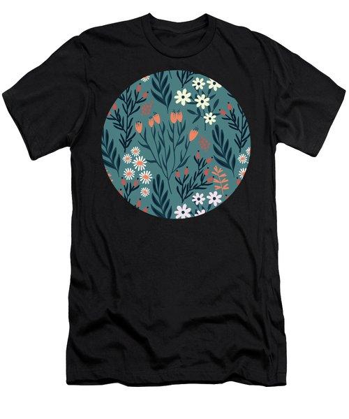 Beautiful Springtime Evening Garden Pattern Men's T-Shirt (Athletic Fit)