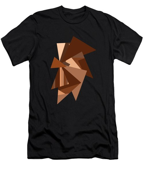 Brown Chocolate Caramel  Triangles  Men's T-Shirt (Athletic Fit)
