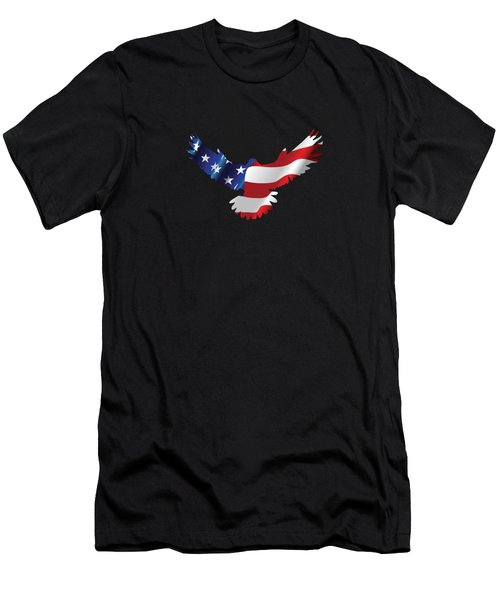 Stars And Striped Eagle Men's T-Shirt (Athletic Fit)