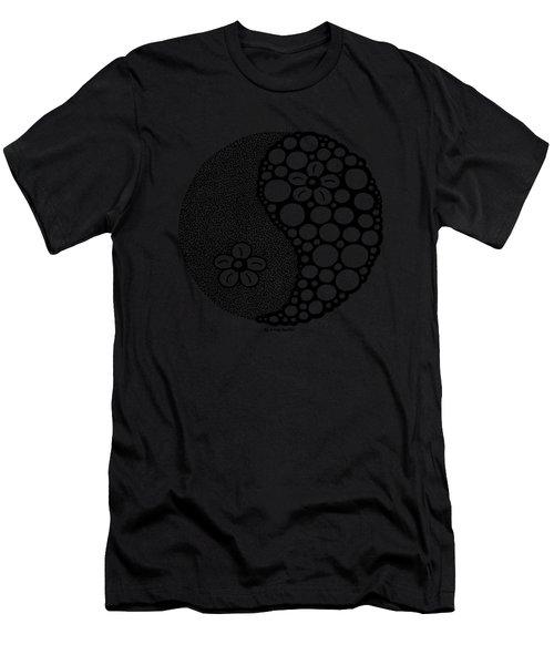 Flower Yin Yang Men's T-Shirt (Athletic Fit)