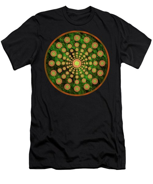 Mandala Radium 1 Men's T-Shirt (Athletic Fit)