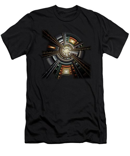 Space Station Men's T-Shirt (Athletic Fit)