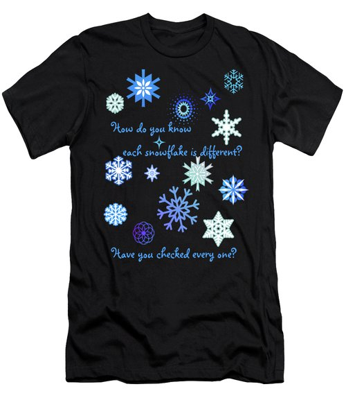 Snowflakes 2 Men's T-Shirt (Slim Fit) by Methune Hively