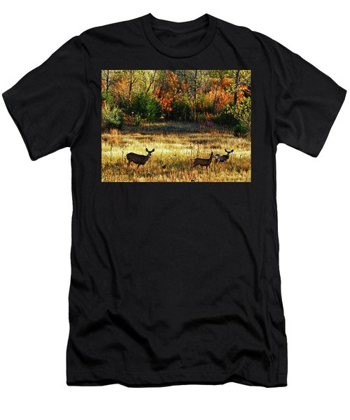 Deer Autumn Men's T-Shirt (Athletic Fit)
