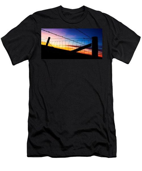 Men's T-Shirt (Slim Fit) featuring the photograph Hilltop Sunset by Bill Kesler
