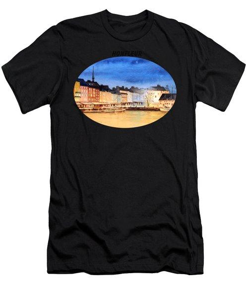 Honfleur  Evening Lights Men's T-Shirt (Athletic Fit)