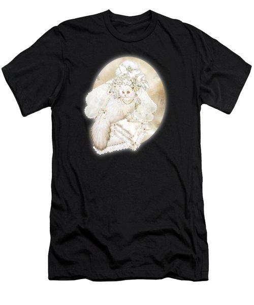 Cat In Fancy Bridal Hat Men's T-Shirt (Athletic Fit)