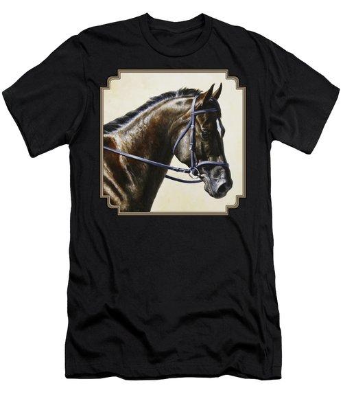 Dressage Horse - Concentration Men's T-Shirt (Athletic Fit)