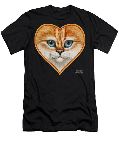 Happy Kitty Men's T-Shirt (Athletic Fit)