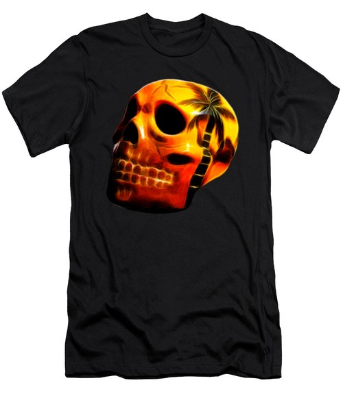 Glowing Skull Men's T-Shirt (Athletic Fit)