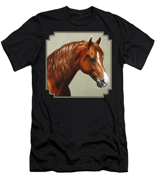Morgan Horse - Flame Men's T-Shirt (Athletic Fit)