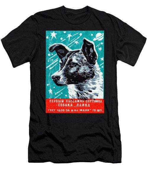 1957 Laika The Space Dog Men's T-Shirt (Athletic Fit)