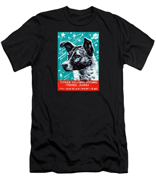 1957 Laika The Space Dog Men's T-Shirt (Athletic Fit)