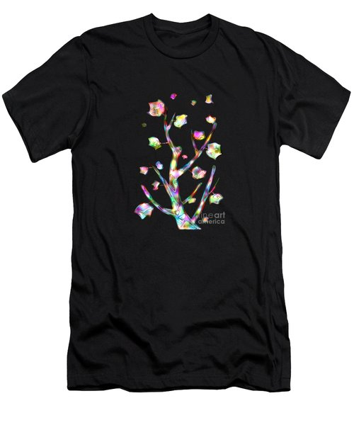 Rainbow Tree Men's T-Shirt (Athletic Fit)