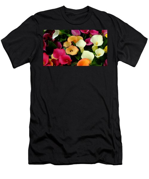 Men's T-Shirt (Athletic Fit) featuring the photograph Arum Lilies by August Timmermans