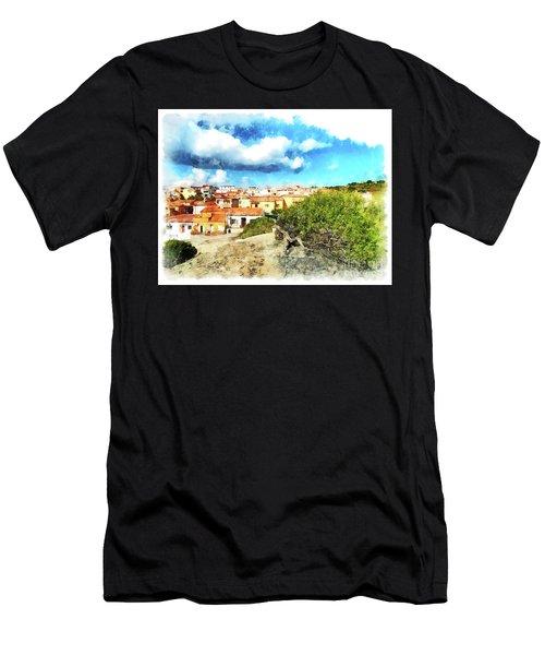 Arzachena Landscape With Clouds Men's T-Shirt (Athletic Fit)