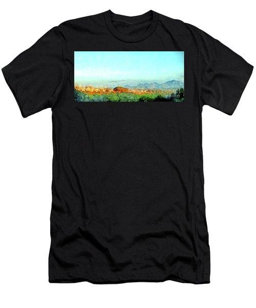 Arzachena Landscape With Mountains Men's T-Shirt (Athletic Fit)