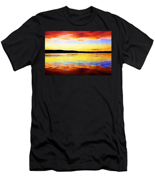 As Above So Below - Digital Paint Men's T-Shirt (Athletic Fit)