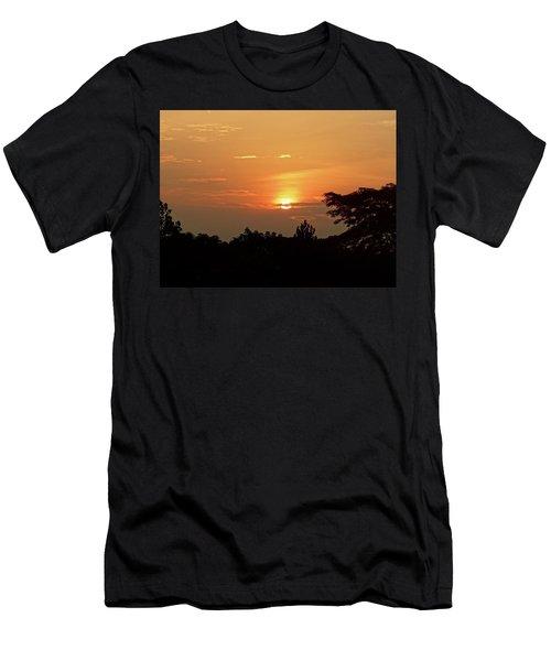 As The Sun Sets ... Orange Men's T-Shirt (Slim Fit) by Exploramum Exploramum