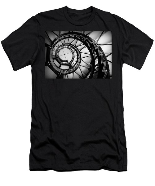 Ascend - Black And White Men's T-Shirt (Athletic Fit)