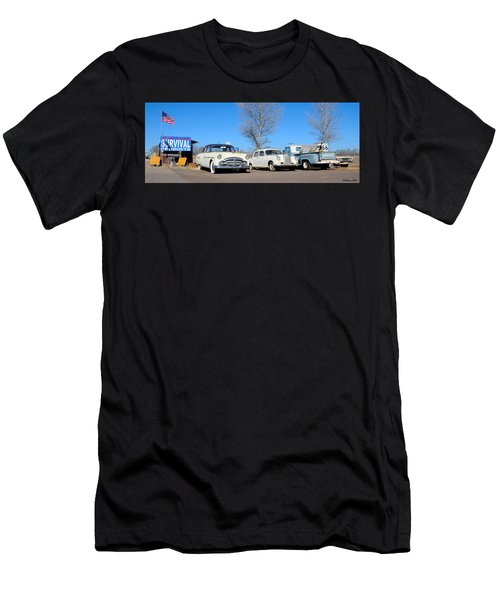 Ash Fork Vintage Cars Along Historic Route 66 Men's T-Shirt (Athletic Fit)