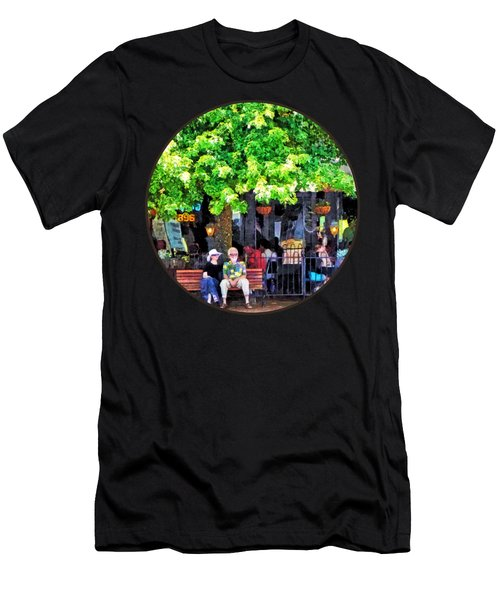 Asheville Nc Outdoor Cafe Men's T-Shirt (Slim Fit)