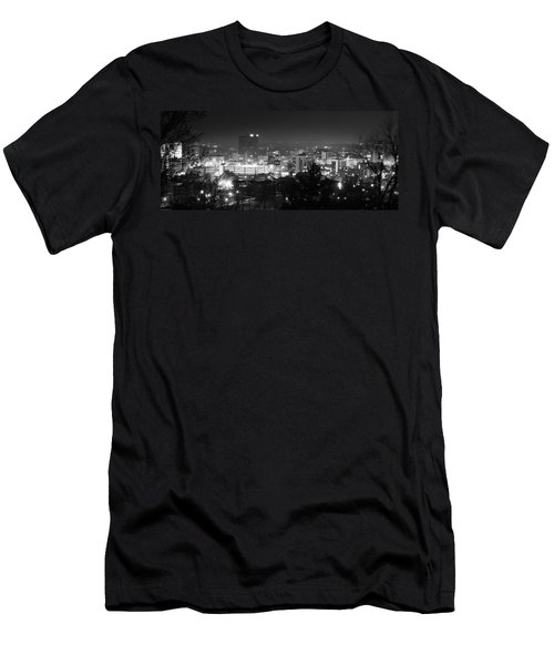 Asheville North Carolina Skyline Men's T-Shirt (Athletic Fit)
