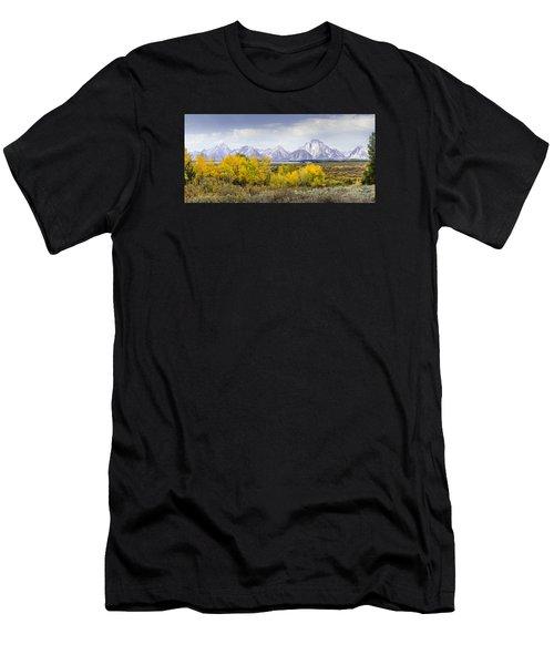 Aspen Gold In The Tetons Men's T-Shirt (Athletic Fit)