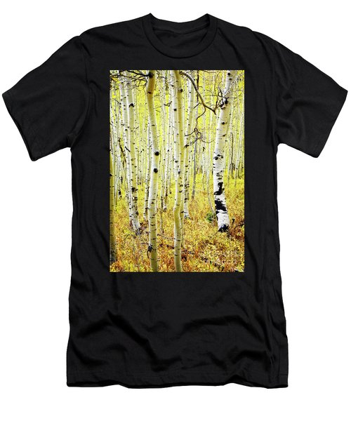 Men's T-Shirt (Athletic Fit) featuring the photograph Aspen Grove by Scott Kemper