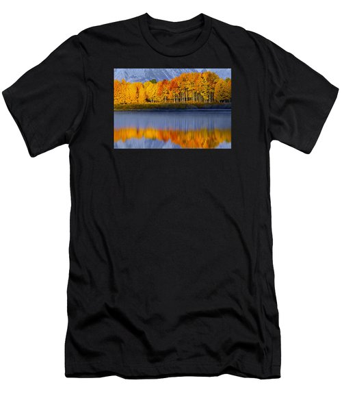 Men's T-Shirt (Athletic Fit) featuring the photograph Aspen Reflection by Wesley Aston