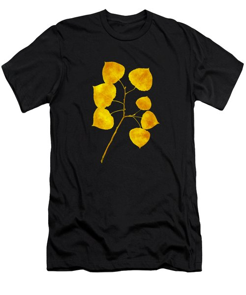 Aspen Tree Leaf Art Men's T-Shirt (Athletic Fit)
