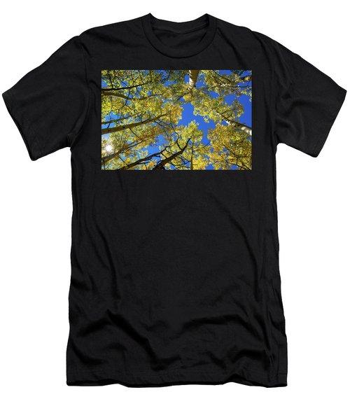 Aspen With Sun Burst Men's T-Shirt (Athletic Fit)