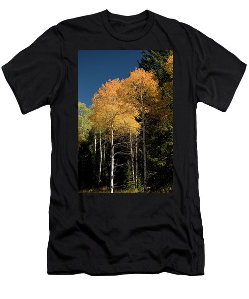Men's T-Shirt (Slim Fit) featuring the photograph Aspens And Sky by Steve Stuller
