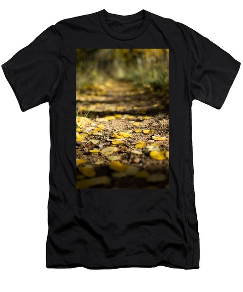 Aspen Leaves On Trail Men's T-Shirt (Athletic Fit)