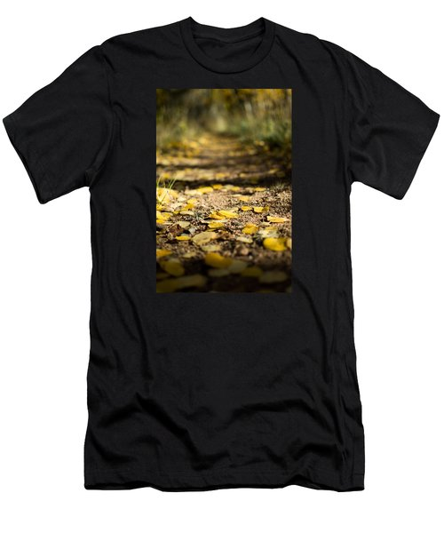 Aspen Leaves On Trail Men's T-Shirt (Athletic Fit)