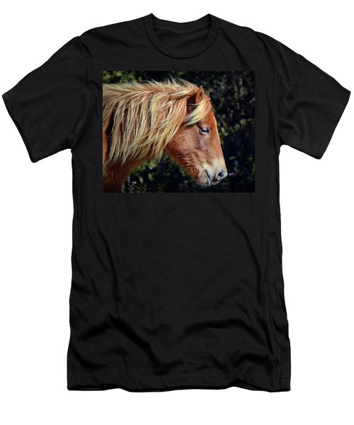 Assateague Horse Sarah's Sweet Tea Right Profile Men's T-Shirt (Athletic Fit)