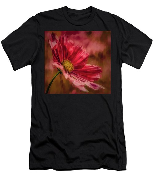 Aster Red Painterly #h1 Men's T-Shirt (Athletic Fit)