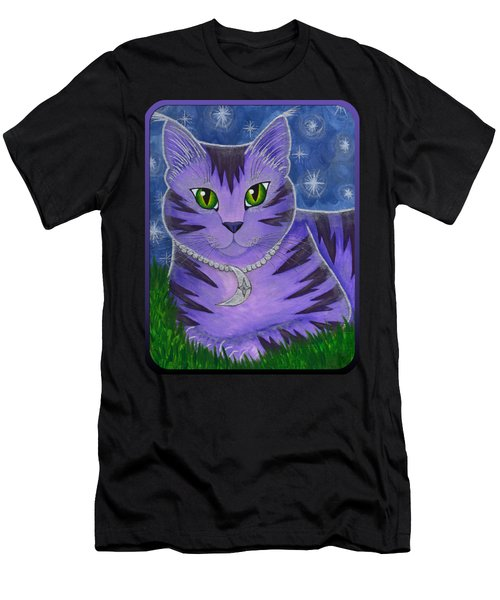 Astra Celestial Moon Cat Men's T-Shirt (Athletic Fit)