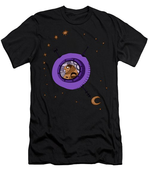 Astronaut In Deep Space Men's T-Shirt (Athletic Fit)