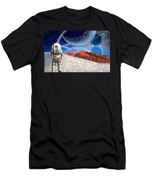 Astronaut On Exosolar Planet Men's T-Shirt (Athletic Fit)